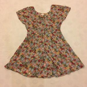 Semi-sheer floral print mini dress